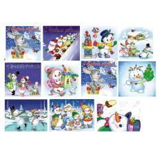Картинки на водорастворимой бумаге  Новый год