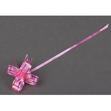 """Бант """"Бабочка"""" золотая полоса, розовый."""