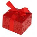 Коробка сборная ажурная, красная, маленькая