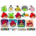 Картинки на водорастворимой бумаге - Angry Birds
