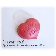 Форма для мыла I LOVE YOU